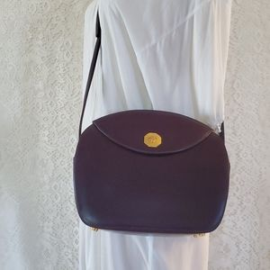 Vintage Viola Leather BALLY Crossbody Purse
